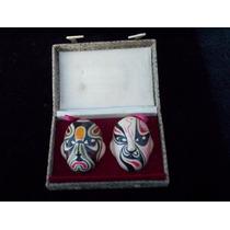 Mascaritas Antiguas D La Opera Facial China Estuche Original