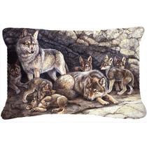 Lobos Del Lobo Por El Den Tela Almohada Decorativa Bdba0157p