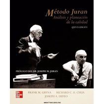 Libro: Método Juran. Análisis Y Planeación De La Calidad Pdf
