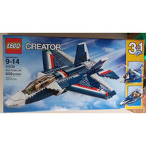 Lego Creator 3 En 1 Blue Power Jet Nuevo 31039 Avion 608pzs