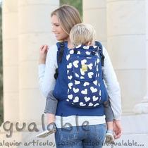 Portador Para Bebes Lillebaby Azul Cielo Con Corazones