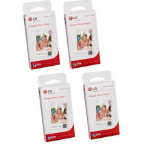 4 Pack Papel Fotografico Lg Pocket Ps2203 Pd233 Zinc