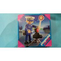 Playmobil Set 4902 Policia Con Señalamiento Vial Ciudad Js