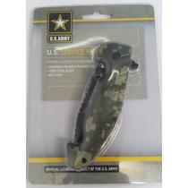 Navaja Con Licencia Oficial De U.s. Army Acero 7cr17 Espadas