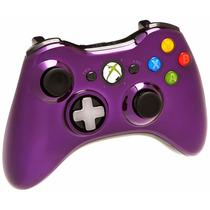 Control Xbox 360 Morado Cromo Nuevo Inalambrico Blakhelmet S