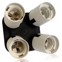 E26 Estándar / E27 4 En 1 Socket Adaptador-divisor Del Zócal