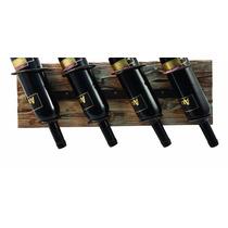 Estante Para Botellas De Vino Twine De Pared Rustico P/4