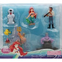 Disney Princess Exclusivo Sirenita Figura Set - 7 Pc Ariel F