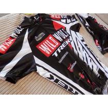 Uniforme De Ciclismo Trek Wild Wolf Jersey + Bib Short M Y L