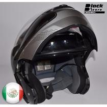 Casco Zeus Helmet Con Bluetooth Stereo Abatible Mica Y Gafas