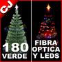 Arbol Verde 180 Fibra Optica Y Luces Led Integradas Navidad