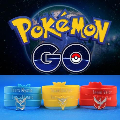 805d3b03a501a Pulseras De Los Equipos Pokemon Go Personalizadas Del Color