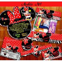 Kit Imprimible Minnie Mouse Mimi Cebra Cumpleanos Tarjeta #3