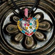 Niños Corazón Collar - Wild Republic Plata Rhinestone