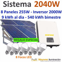Panel Solar 540 Kwh Interconectado Cfe Inversor Central