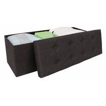 Mueble Multifuncional Baúl Taburete Mesa Forrado Tela 110x38