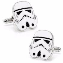 Mancuernillas Stormtrooper Star Wars Plateado Blanco Acero