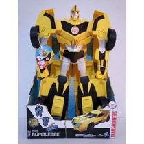 Transformers Super Bumblebee Luz Y Sonido 50cm Transformable
