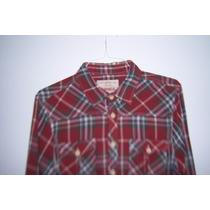 Camisa Bershka De Franela Acuadros T- L / Xl 42