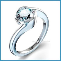 Anillo De Compromiso Diamante Natural .20ct Oro 10k -50% 004