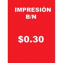 Impresion En Negro Papel Alta Blancura Tamaño Carta $0.30