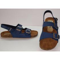 Sandalias Tipo Birkenstock Milano 103 Azul Marino H&m Zara