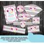 Kit Imprimible Etiquetas Flores Vintage Elegante Shabby