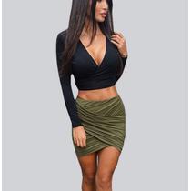 Falda Dama Moda Ropa Lycra Nueva Mini Sexy Corta Cruzada Vip