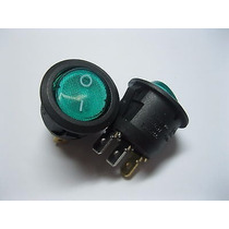 Switch Balancin Verde 12v 16a ( 10 Piezas )