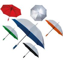 Paraguas Sombrilla Grande Bicolor Con Funda. Varios Colores