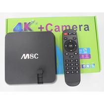 M8c Android Tv Box Cámara, Usb, Wi-fi De Alta Definición De