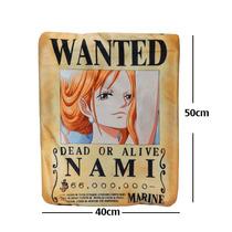 Almohada One Piece Nami Cartel Wanted De Excelente Calidad