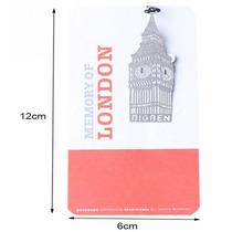 Separador Metálico Londres Big Ben Torre Eiffel Paris