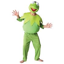 Kermit La Rana Disfraz - Hombres Grandes Deluxe Muppets