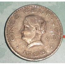 Lote 111 Moneda Mexico 5 Centavos 1955 J.o. Dominguez Ceca M