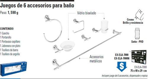 Juego de accesorios para ba o foset element wc 49681 1050 Juego de accesorios de bano