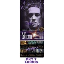H P Lovecraft Mejores Cuentos Terror Paquete Reyes 7 Libros