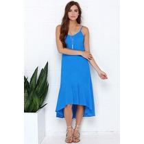 Vestido Casual Hermoso Azul Rey Envio Gratis