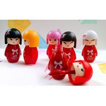 6 Brillo Gloss Lip Balm Kawai Niñas Muñecas