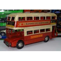 1:32 Autobús Londinense Vehículo De Hierro Hojalata