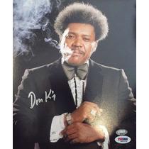 Donald Don King Foto Autografiada Y Certificada Boxeo Box
