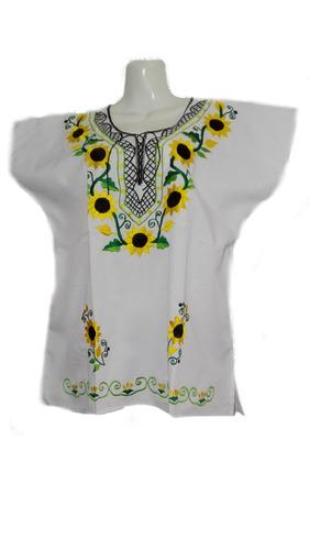 17c674273c Blusa Mexicana Bordada Típicas Regionales Artesanal Colores en venta ...