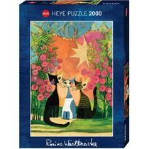Rompecabezas Gatos Con Rosas 1000 Piezas Heye Aleman 29721