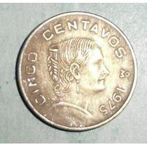 Lote 113 Mexico 5 Centavos Josefa 1975 Cuproniquel Ceca M