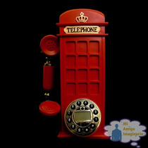 Telefono Vintage Cabina Telefonica Roja Londres Inglaterra