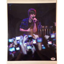 Poster Autografiado Por Justin Bieber Con Coa Psa Katy Perry