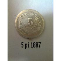 Moneda Antigua 5 Centavos 1887 Pi