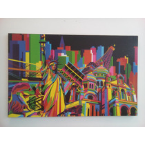 Cuadro Moderno, Impreso Apariencia De Pintura