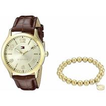 Reloj Y Pulsera Tommy Hilfiger Mujer 1770013 Tono Oro