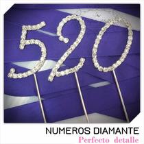 2 Numeros Diamante Con Envio Para Decoracion De Pastel